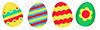изображением пасхальных яиц