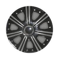 Колпаки на колеса R13 DTM Super Black, комплект 4 шт. (Star)