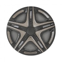 Колпаки на колеса R15 Дакар Super Black, комплект 4 шт. (Star)