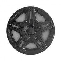 Колпаки на колеса R14 Дакар черный, комплект 4 шт. (Star)