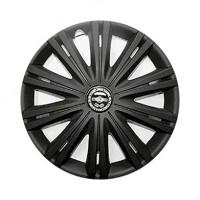 Колпаки на колеса R14 Гига черная, комплект 4 шт. (Star)
