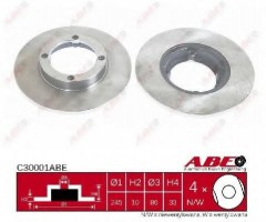 Комплект передних тормозных дисков ABE C30001ABE (2 шт.)