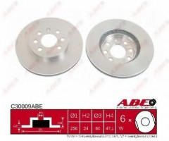Комплект передних тормозных дисков ABE C30009ABE (2 шт.)