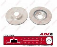 Комплект передних тормозных дисков ABE C30019ABE (2 шт.)