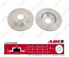 Комплект передних тормозных дисков ABE C30324ABE (2 шт.)