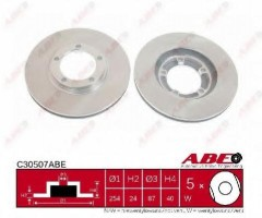 Комплект передних тормозных дисков ABE C30507ABE (2 шт.)