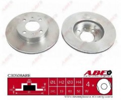 Комплект передних тормозных дисков ABE C30508ABE (2 шт.)