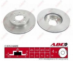 Комплект передних тормозных дисков ABE C30514ABE (2 шт.)