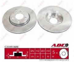 Комплект передних тормозных дисков ABE C31097ABE (2 шт.)