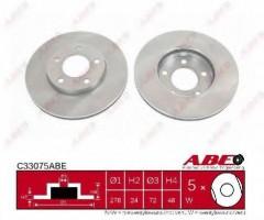 Комплект передних тормозных дисков ABE C33075ABE (2 шт.)