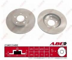 Комплект передних тормозных дисков ABE C34012ABE (2 шт.)