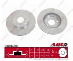 Комплект передних тормозных дисков ABE C34044ABE (2 шт.)