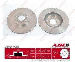 Комплект передних тормозных дисков ABE C34047ABE (2 шт.)