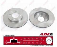 Комплект передних тормозных дисков ABE C3A002ABE (2 шт.)