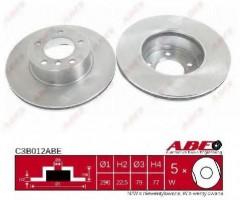 Комплект передних тормозных дисков ABE C3B012ABE (2 шт.)