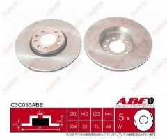 Комплект передних тормозных дисков ABE C3C033ABE (2 шт.)