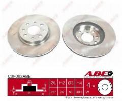 Комплект передних тормозных дисков ABE C3F003ABE (2 шт.)