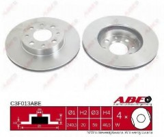 Комплект передних тормозных дисков ABE C3F013ABE (2 шт.)