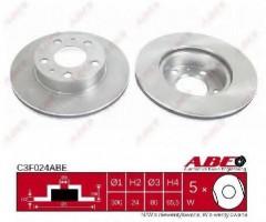 Комплект передних тормозных дисков ABE C3F024ABE (2 шт.)