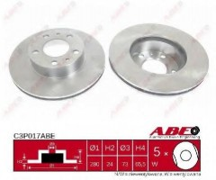 Комплект передних тормозных дисков ABE C3P017ABE (2 шт.)