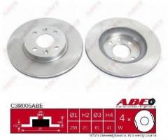 Комплект тормозных дисков ABE C3R005ABE (2 шт.)