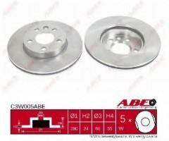 Комплект передних тормозных дисков ABE C3W005ABE (2 шт.)