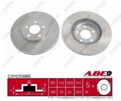 Комплект передних тормозных дисков ABE C3Y015ABE (2 шт.)