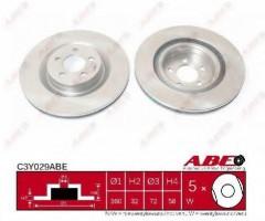 Комплект передних тормозных дисков ABE C3Y029ABE (2 шт.)