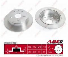 Комплект задних тормозных дисков ABE C40002ABE (2 шт.)