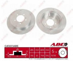 Комплект задних тормозных дисков ABE C45023ABE (2 шт.)