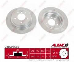 Комплект задних тормозных дисков ABE C4B006ABE (2 шт.)