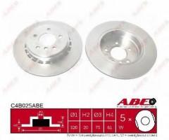 Комплект тормозных дисков ABE C4B025ABE (2 шт.)