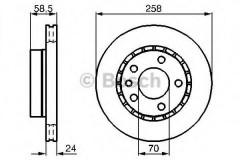 Комплект тормозных дисков BOSCH 0 986 478 265 (2 шт.)