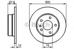 Комплект тормозных дисков BOSCH 0 986 478 322 (2 шт.)