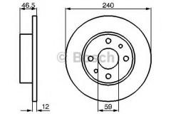 Комплект тормозных дисков BOSCH 0 986 478 353 (2 шт.)