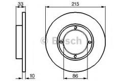 Комплект тормозных дисков BOSCH 0 986 478 376 (2 шт.)