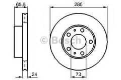 Комплект тормозных дисков BOSCH 0 986 478 434 (2 шт.)