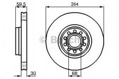 Комплект тормозных дисков BOSCH 0 986 478 617 (2 шт.)