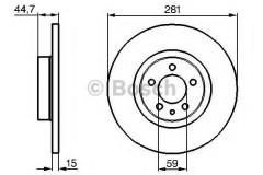 Комплект тормозных дисков BOSCH 0 986 478 668 (2 шт.)
