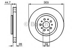 Комплект тормозных дисков BOSCH 0 986 478 711 (2 шт.)