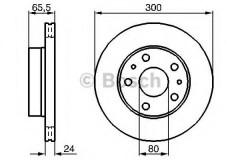 Комплект тормозных дисков BOSCH 0 986 478 842 (2 шт.)