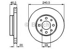 Комплект тормозных дисков BOSCH 0 986 478 878 (2 шт.)