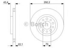 Комплект тормозных дисков BOSCH 0 986 479 326 (2 шт.)