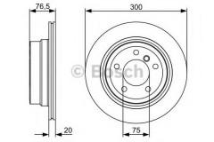 Комплект тормозных дисков BOSCH 0 986 479 496 (2 шт.)