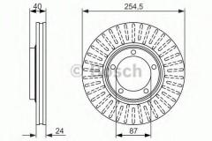 Комплект тормозных дисков BOSCH 0 986 479 596 (2 шт.)