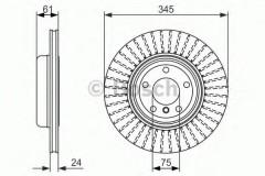 Комплект тормозных дисков BOSCH 0 986 479 729 (2 шт.)