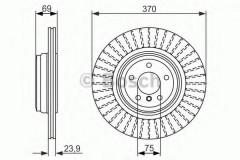 Комплект тормозных дисков BOSCH 0 986 479 730 (2 шт.)