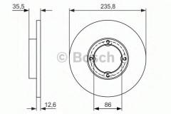 Комплект тормозных дисков BOSCH 0 986 479 898 (2 шт.)