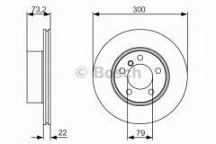 Комплект тормозных дисков BOSCH 0 986 479 A18 (2 шт.)