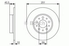 Комплект тормозных дисков BOSCH 0 986 479 A37 (2 шт.)